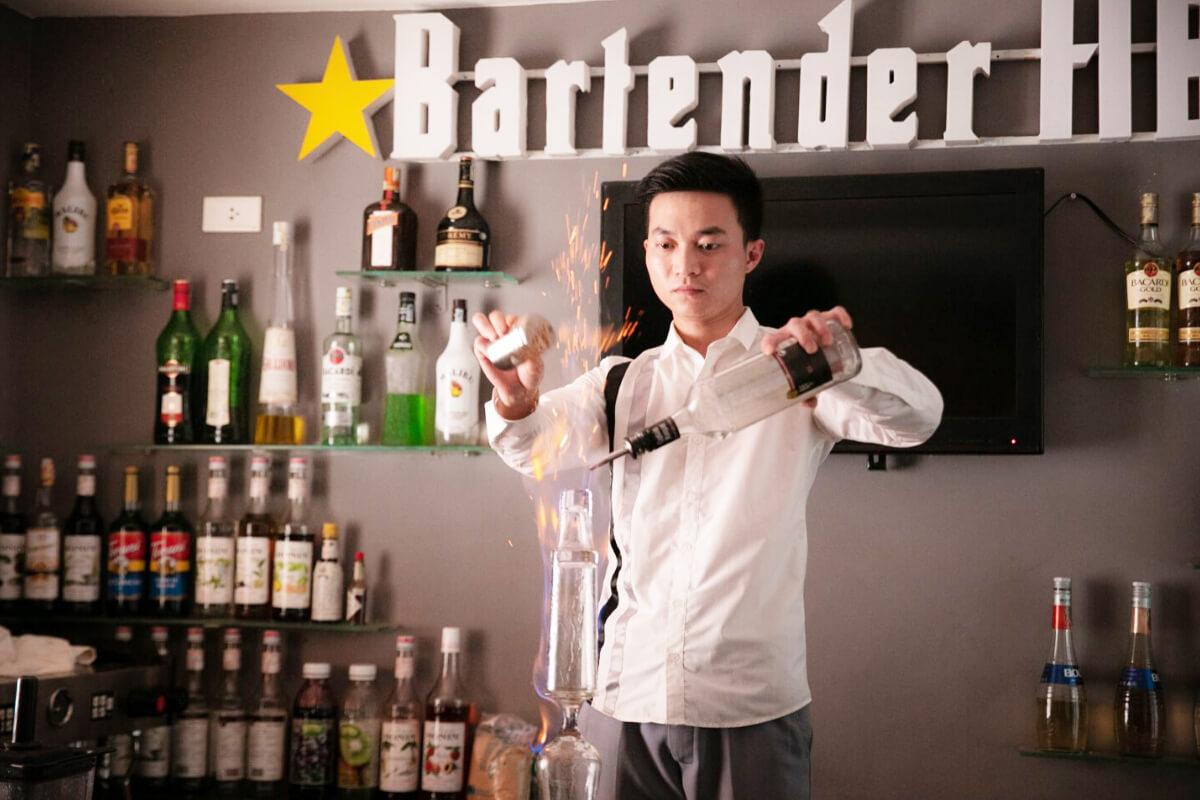 khó học bartender hà nội HB